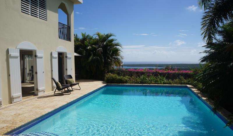 Private pool overlooks breathtaking Caribbean views - Villa Destino - Tropical Estate w/Private Pool - Isla de Vieques - rentals