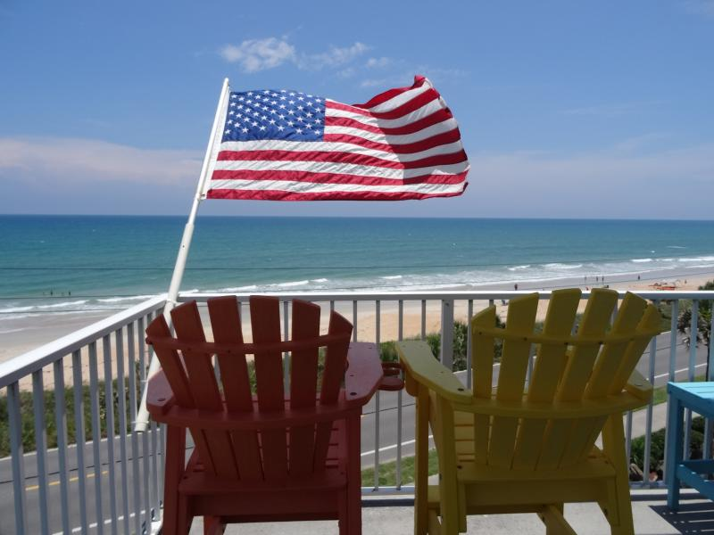 Love That Flag - OCEANFRONT PENTHOUSE ON THE WATER END UNIT - Flagler Beach - rentals