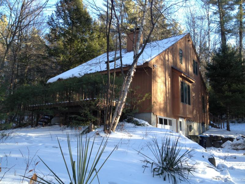 House with first snow of winter - Loon Lake Retreat with Private Dock - Chestertown - rentals
