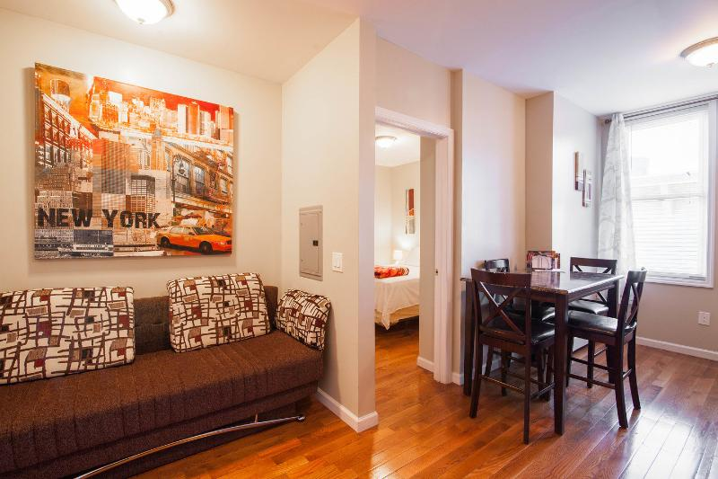 Living Room - new york city!!! 5 minutes away,beautiful 1 bedroom, sleeps up to 4 - Union City - rentals