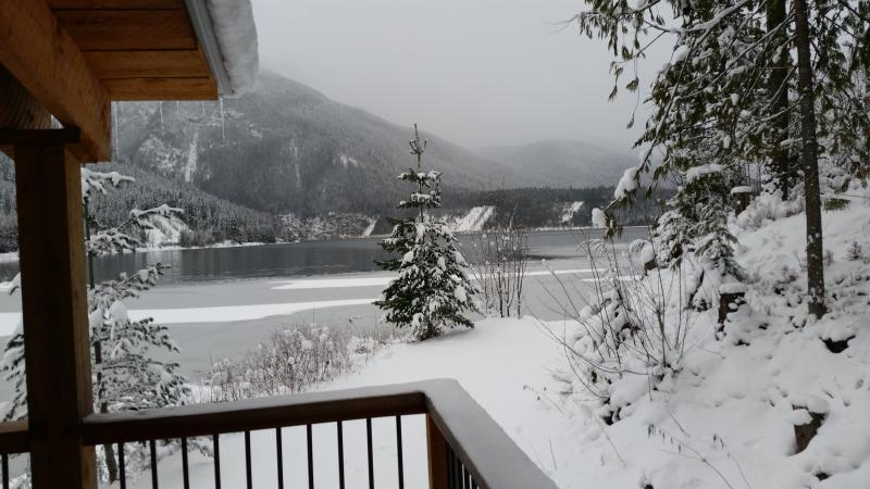 Winter view from the Top Hat, Terrace.  Enjoy morning coffee with this fabulous view! - Revelstoke, BC - Top Hat Terrace Vacation Rental - Revelstoke - rentals