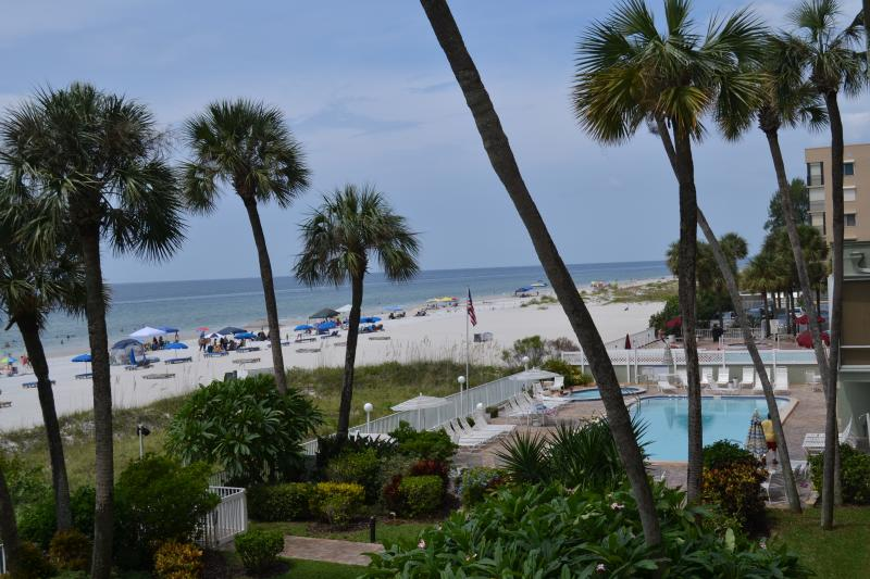 View of beach and pool from the balcony - Ocean Front condo in Indian Shores/Clearwater - Indian Shores - rentals