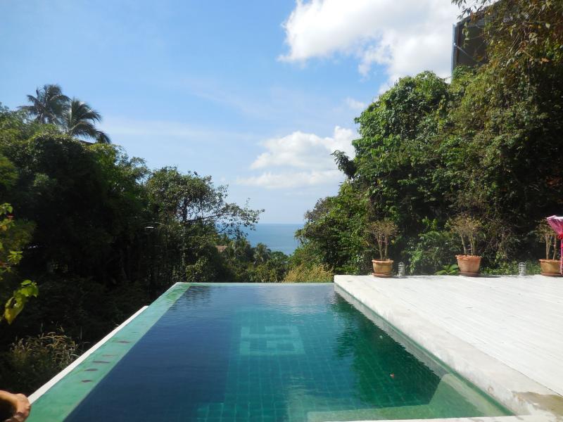 Ocean views from the private infinity pool - 3 BED SEA VIEW VILLA/INFINITY POOL/ROOF TERRACE - Koh Phangan - rentals