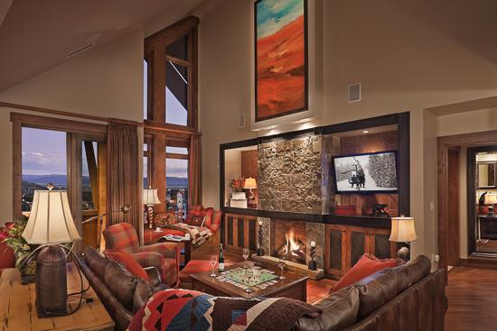 Spacious living room - One Steamboat Place - Diamond Peak Penthouse - Ski-in/Ski-out Luxury - Steamboat Springs - rentals