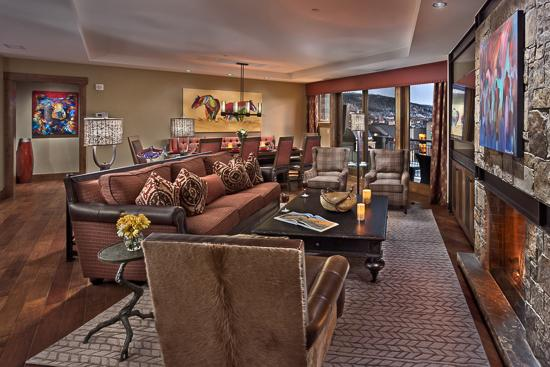 Spacious living room - Steps from Gondola-Cougar Mtn - 4BR - One Steamboat - Steamboat Springs - rentals