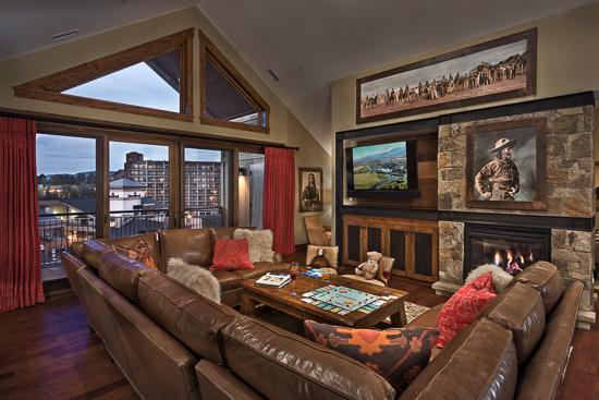 Spacious living room - One Steamboat Place - Summit Peak Penthouse (4BR Condo) - Steamboat Springs - rentals