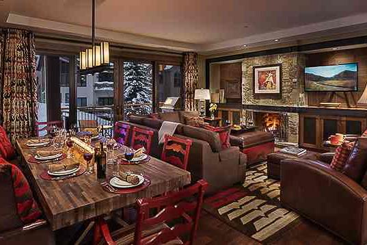 Spacious living room - Slopeside! One Steamboat Place - Zen Mtn - Steamboat Springs - rentals