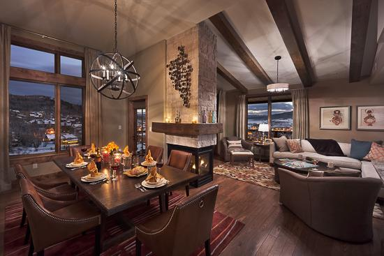Dining room and living room - Edgemont 2BR - Skyfall - Steamboat Springs - rentals