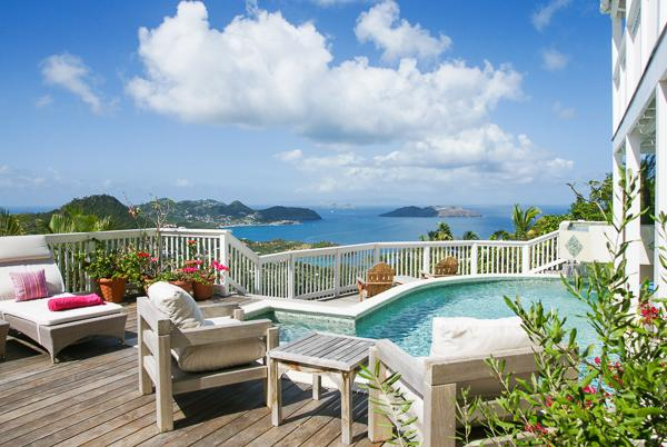Cozy villa high up in Petite Saline offers maximum privacy and tranquility	 WV ADA - Image 1 - Saint Barthelemy - rentals