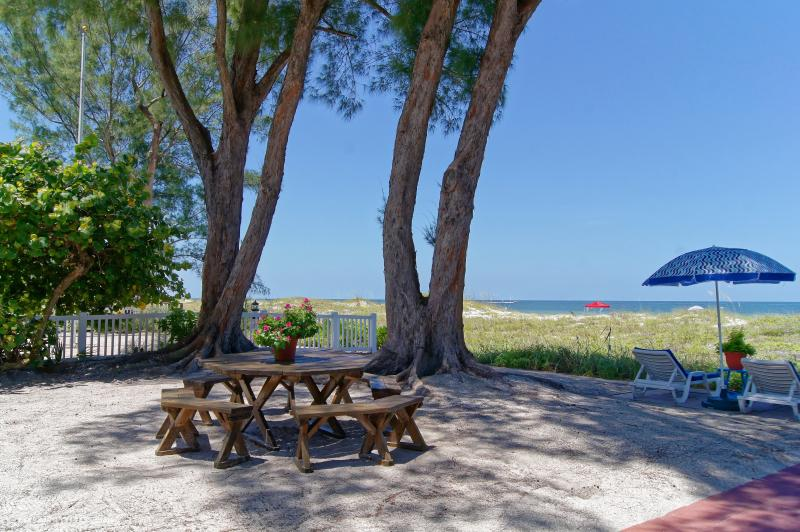 Beautiful SANDY SHORES right on the Gulf of Mexico - Beautiful Gulffront Cottages Sandy Shores/PATIO - Indian Rocks Beach - rentals