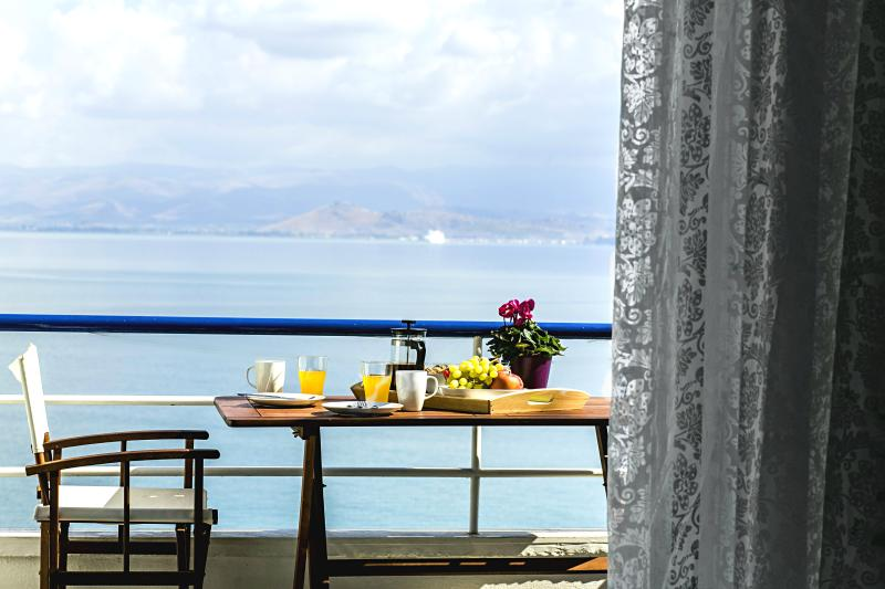 View from balcony - Waterfront 1 Bedroom Apartments, near Nafplion!!! - Nauplion - rentals
