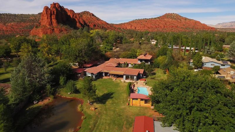 Arial view of Moondance Estate - Sedona Sanctuary - Eight bedrooms/ Six baths/ View - Sedona - rentals