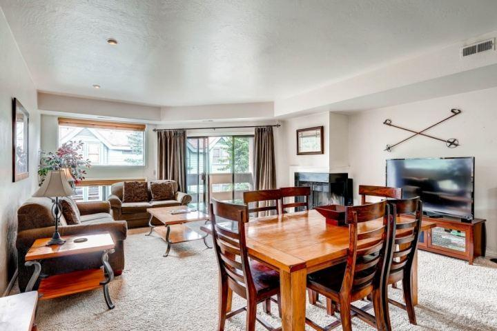 "Lift Line Condo features 3 bedrooms, 2 baths, large master suite, wood burning fireplace, balcony, 60"" HDTV and endless amenities. - Lift Line Condo - Park City - rentals"