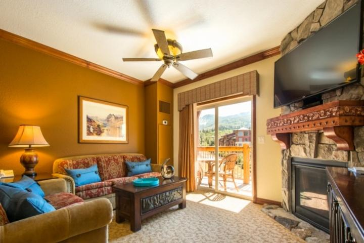 Off the living room, walk outside to your private balcony with fantastic mountain views and a two-person patio set. - Westgate 1 Bedroom Suite Panoramic Mountain View - Park City - rentals