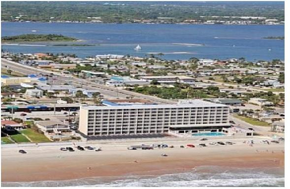 The condo is located on the beach and surrounded by the ocean front and back. - Oceanfront Condo at Daytona Beach - Daytona Beach - rentals