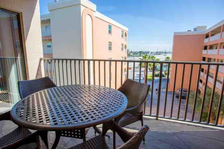View of John's Pass from Private Balcony - 411 - Sandy Shores - Madeira Beach - rentals