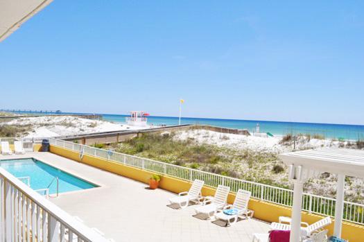 Balcony View Gulf Dunes Resort Unit 107 Okaloosa Island Florida - Gulf Dunes Resort, Unit 107 - Fort Walton Beach - rentals