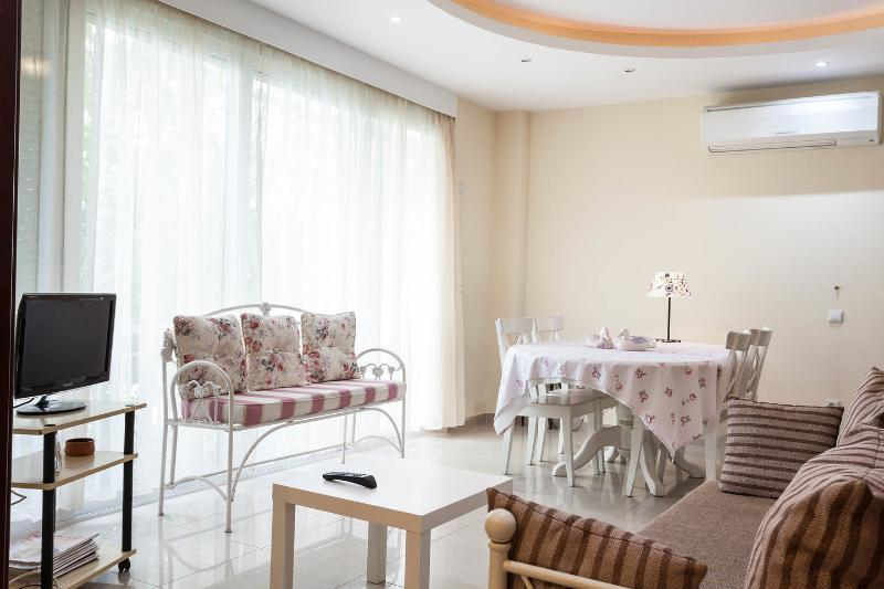 Living Room - Luxurious bright n' cosy apartment in Greece - Glyfada - rentals