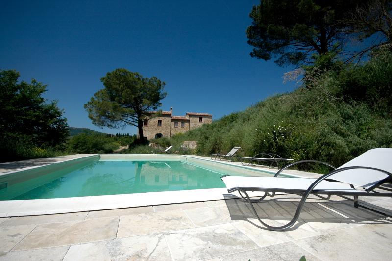 The private pool - Luxury 4 Bedroom Farmhouse near Montepulciano - Montepulciano - rentals