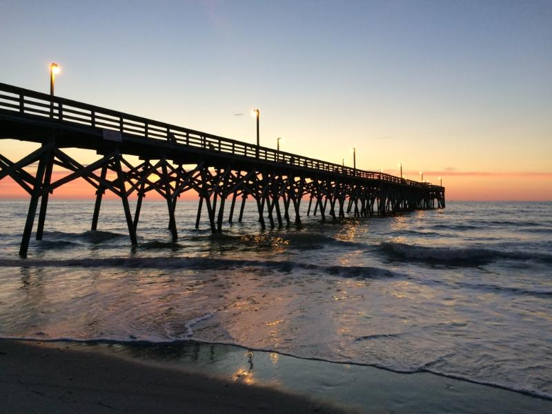 Surfside Pier is just north of the house--a short 5 block stroll up the beach - All new for 2014/Spectacular Oceanfront Views - Surfside Beach - rentals