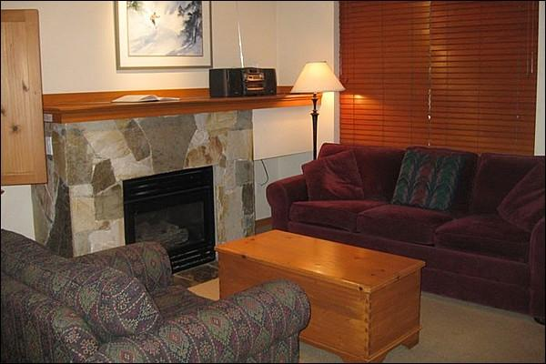 Charming and Cozy Living Area with Gas Fireplace - Across the Street from Free Shuttle to Lifts - Close to the Marketplace Shopping Centre (4062) - Whistler - rentals