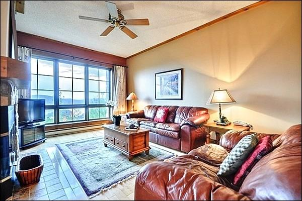 Stunning Decor Throughout the Living Area - Magnificent Views of Lake Tremblant - Common Area Hot Tub and Summer Swimming Pool (6066) - Mont Tremblant - rentals