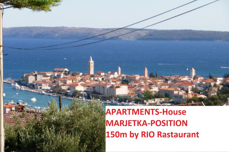 house position is by oldtown Rab - - The house Perkic - RAB  max.17 persons - Rab - rentals