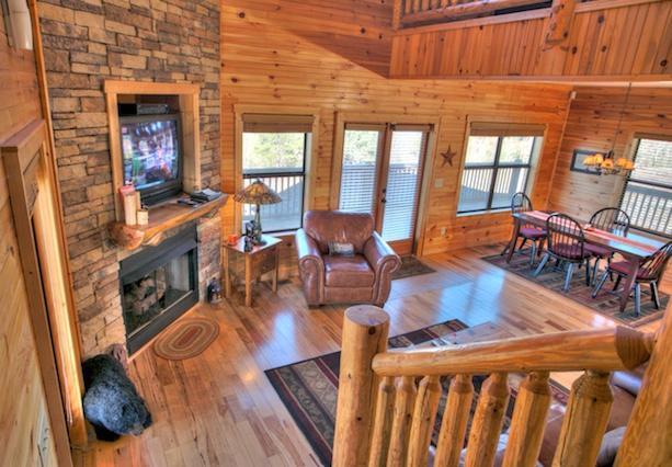 All Wood Living Area - Starlight - Helen - rentals