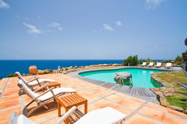 Cliffside villa with a sweeping view out over the ocean. WV SAM - Image 1 - Saint Barthelemy - rentals