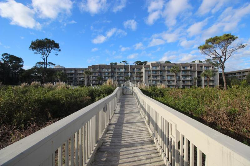 Back of Villa - Oceanfront Condo, Steps to the Sand - Hilton Head - rentals