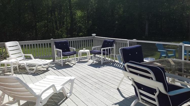 Back Deck - 44 Marshview Circle - East Sandwich - rentals