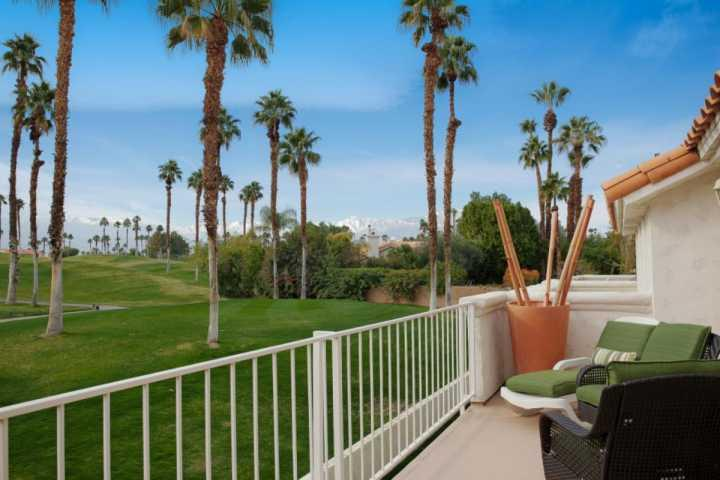 Outstanding view from the very large balcony! - Serene & Sophisticated Free Tennis & Fitness Desert Falls CC Mtn.& Golf Course - Palm Desert - rentals