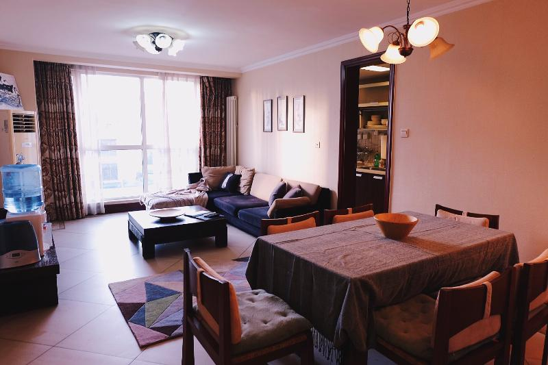 Living room - 3BD 2BTH (3Beds)  Beijing CBD Western Managed Serviced Apartments #7 - Beijing - rentals