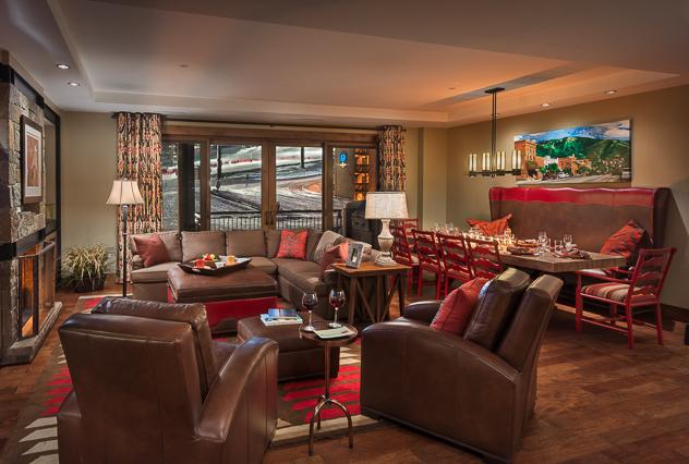 """Spacious living room - """"Great Powder"""" Specials - save up to 25% at One Steamboat Place - Mount Yale - Steamboat Springs - rentals"""