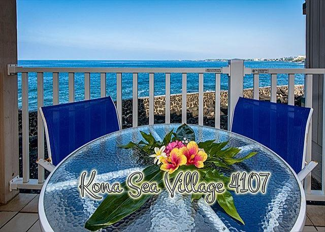 Oceanfront 2 bedroom ground floor condo with amazing Ocean views - Image 1 - Kailua-Kona - rentals