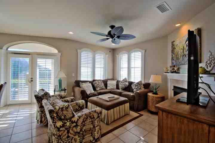 Living Room - Monterey A-102 - Gulf Front Condo - Emerald Shores of Seacrest Beach! - Seacrest Beach - rentals