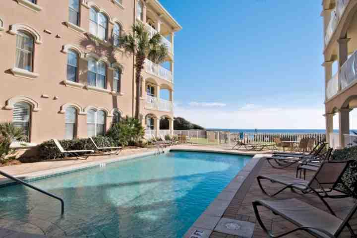 Enjoy Relaxing Poolside at Monterrey!  Beautiful Gulf Breezes and Views!  Take in the salt air and sunshine while relaxing your cares away! - Monterey A-102 - Gulf Front Condo - Emerald Shores of Seacrest Beach! - Seacrest Beach - rentals