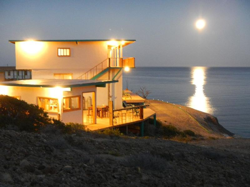 Moonrise at Baja Magic Lodge, Cedros Island, Baja California, MX - Remote Oceanfront Lodge, Cedros Island, Mx - Isla Cedros - rentals