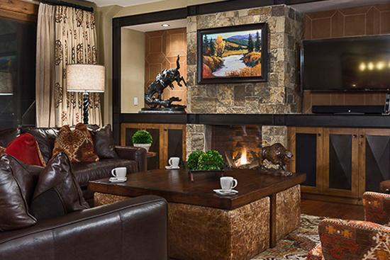 Warm and inviting great room - Slopeside!  One Steamboat Place - Cedar Mtn - Steamboat Springs - rentals