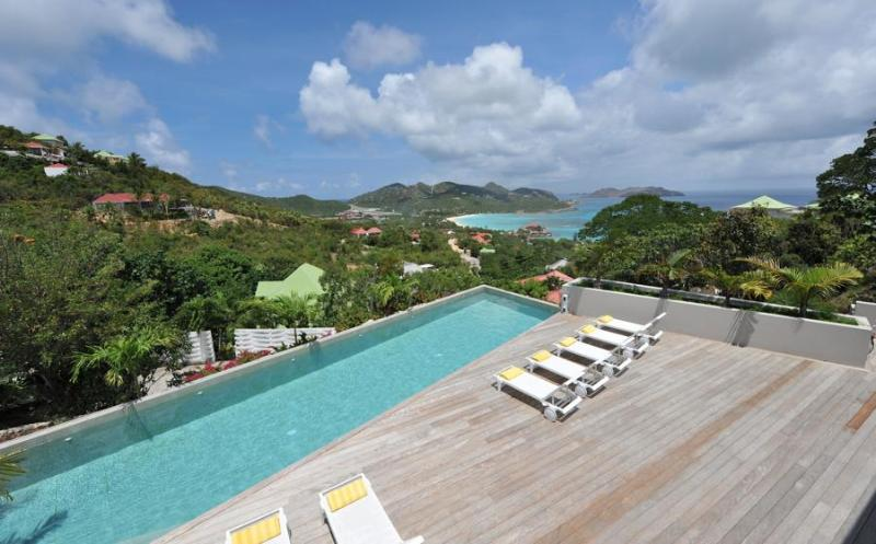 Spacious Hillside Villa with Sweeping Views of Saint Jean Bay - Image 1 - Saint Jean - rentals