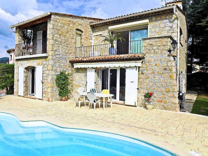 Mandelieu Côte d'Azur, charming stone house 6p. private pool, sea & beach 2km - Image 1 - Mandelieu La Napoule - rentals