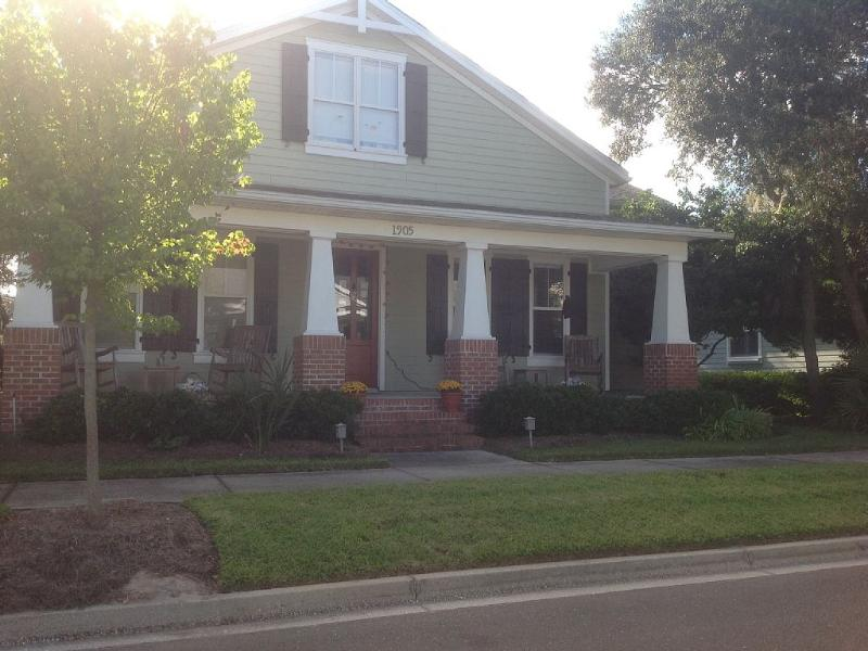 Front Porch street view of our home - Craftsman 3 Bedroom Home in Amelia Park - Fernandina Beach - rentals