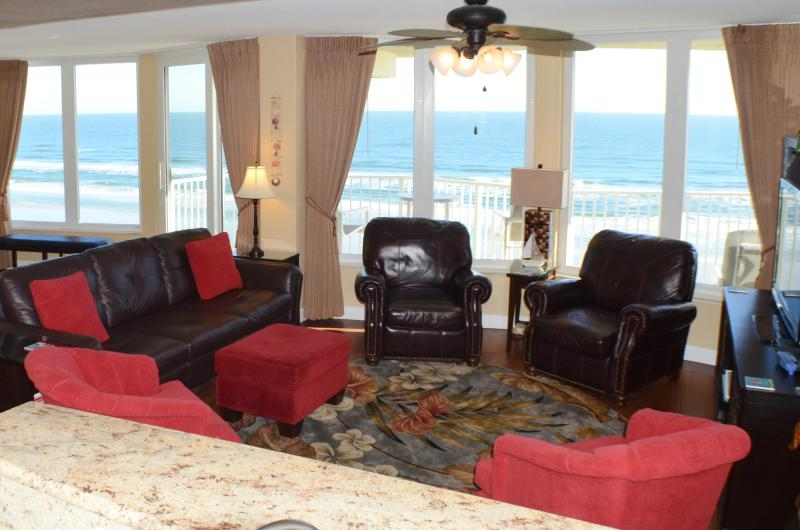 Beautiful ocean views from your comfortable living area - Direct Oceanfront 3 Bedroom Condo--No drive beach! - Daytona Beach - rentals