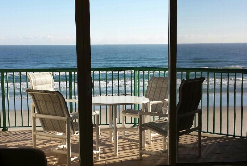 Oceanfront Dining Table & Chairs, great view from the 3rd floor - BRAND NEW Modern Luxurious Direct Oceanfront Condo - Daytona Beach - rentals