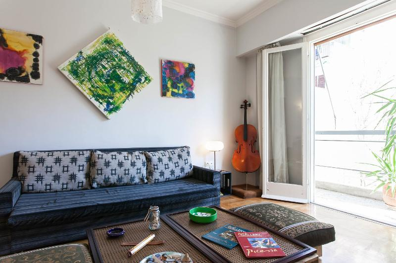 Living Room - Big Apartment @ Heart of Athens - Athens - rentals