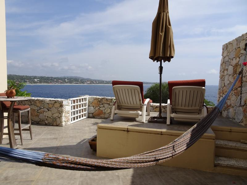 Lounge on chairs or in hammock - Puerto's Best Condo Luxury Ocean view 2 BR, 2 Bath - Puerto Escondido - rentals