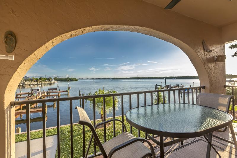 "End unit affords panoramic view of Lemon Bay. - ""Bay Breeze"" Bring your boat. Walk to the Beach! - Manasota Key - rentals"