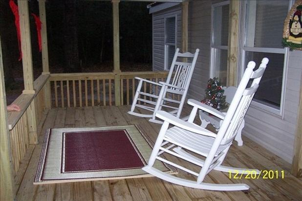 Front porch where you can sit to drink coffee and watch the sun rise - Cabin Located in a Birding and Fishing Paradise - Crawfordville - rentals