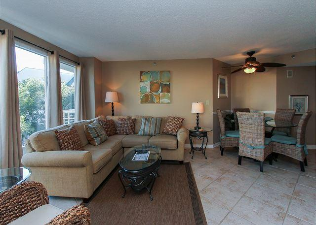 Living Area - 2419 Villamare - BEAUTIFUL 4th floor Villa - Great February SPECIALS! - Hilton Head - rentals
