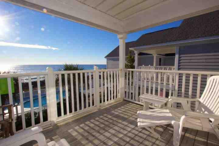 Kick back and enjoy the view from the second floor balcony - Oceanfront Four Bedroom Beach House at Portofino I, Heated Pool - Murrells Inlet - rentals